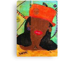 A Woman in LOVE Canvas Print