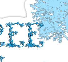 TreeHugger tee w/ tree Sticker