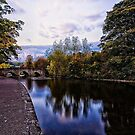 Bakewell River Wye Towards The Road Bridge by Mark Dobson