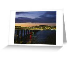 Tay Bridge heading to Dundee Greeting Card