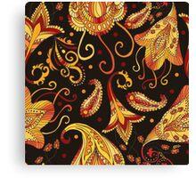 Ethnic black pattern Canvas Print