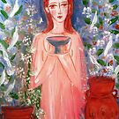 child with a cup  by catherine walker
