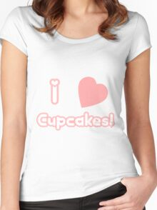 I Heart Cupcakes Women's Fitted Scoop T-Shirt