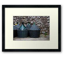 Wicker Wine Baskets Framed Print