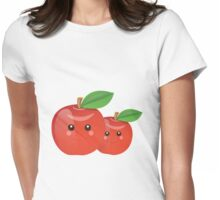 Kawaii Apples Womens Fitted T-Shirt