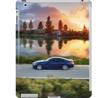 High speed car in Autumn iPad Case/Skin