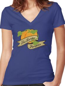 The Lumpy Pumpkin Women's Fitted V-Neck T-Shirt
