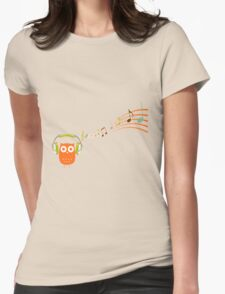 Owl be listening to music! Womens Fitted T-Shirt