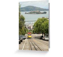 Tram Car - San Francisco Greeting Card