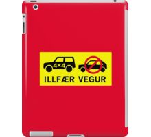 Difficult Road, Traffic Sign, Iceland iPad Case/Skin