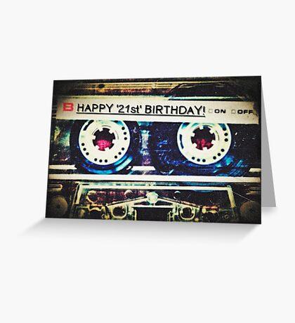 Card - Happy 21st Birthday (Mixtape) Greeting Card