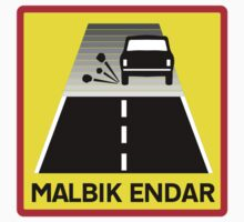 End Of Tarred Road, Traffic Sign, Iceland Kids Tee