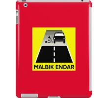 End Of Tarred Road, Traffic Sign, Iceland iPad Case/Skin
