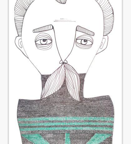 The Moustache Sticker