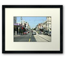 Narrow streets of Melbourne Framed Print