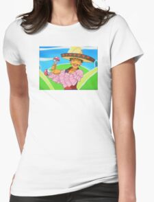 Groovy Brock Womens Fitted T-Shirt