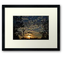 Sunset over the Kingdom Framed Print
