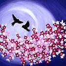 Purple Birds by cathyjacobs