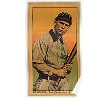 Benjamin K Edwards Collection Melchior San Francisco Team baseball card portrait Poster