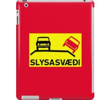 Accident Risk Area, Traffic Sign, Iceland iPad Case/Skin