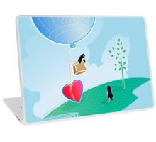 Love Penguins in Spring Laptop Skin