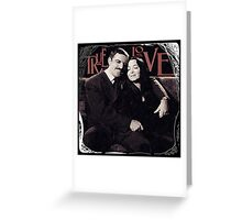 Gomez & Morticia Addams: True Love Greeting Card