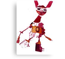Junk Puppet Bunny rabbit Canvas Print