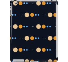 Planets to scale pattern iPad Case/Skin