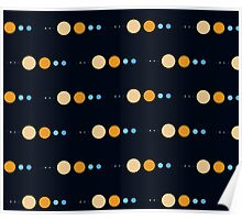 Planets to scale pattern Poster