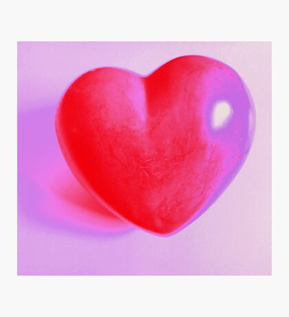 Say it with love - a big red heart - MW Art Marion Waschk Photographic Print