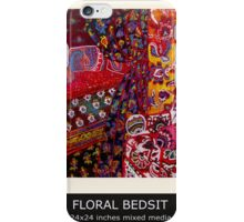 FLORAL BEDSIT iPhone Case/Skin