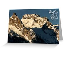 Mountain Christmas ~ Austria ~ Europe Greeting Card
