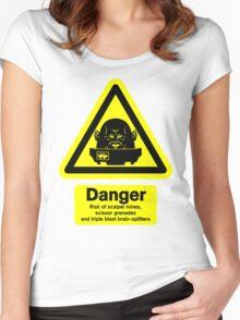 Sontaran Danger! Women's Fitted Scoop T-Shirt