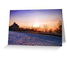Winter Landscape ~ Connecticut ~ USA Greeting Card