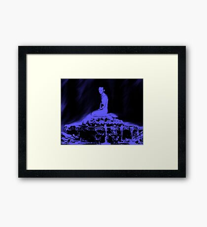 Sitting Quietly  Framed Print
