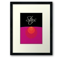 Stars and Suns Size Comparison  Framed Print