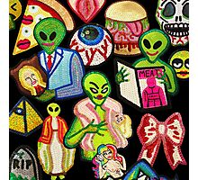 Bad Aliens Trick Or Treat Photographic Print