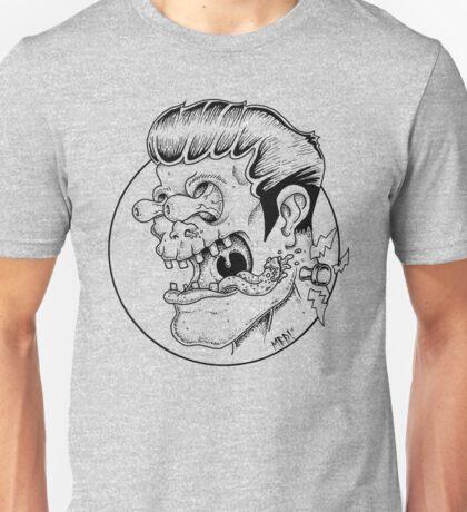 Freaky Frankie (Black Lines) Unisex T-Shirt