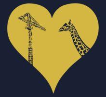 Giraffes Love Cranes Kids Tee