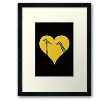 Giraffes Love Cranes Framed Print