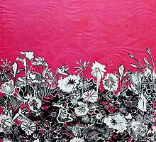 "Crimson Rose Flower Woodcut by Belinda ""BillyLee"" NYE (Printmaker)"