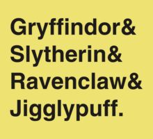 Hogwarts Houses Kids Clothes
