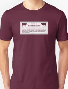 Beware of Invisible Cows, Sign, Hawaii, US - Contrast Version T-Shirt