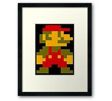 8 Bit Mario Framed Print