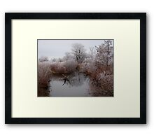 Closed for Winter Framed Print