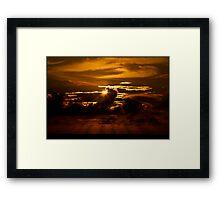 Burnin' Sky Framed Print