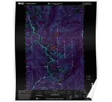 USGS Topo Map Washington State WA Cougar Lake 240694 2000 24000 Inverted Poster