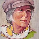 Portrait of Barbara by Roz McQuillan