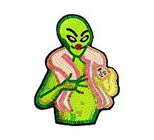 Bad Aliens Scarf Photographic Print
