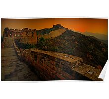 Sunrise at Great Wall City Poster